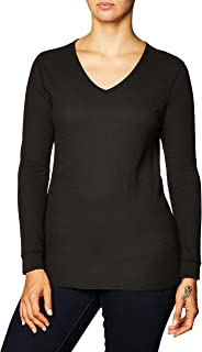 Fruit of the Loom Women's Micro Waffle Thermal V-Neck