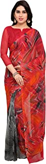 Vaamsi Georgette Printed Saree (Raga3156_Red_6.3 m length)