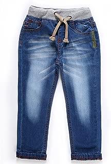 Little Boys' Toddler Waistband Jeans Elastic Waist Straight Fit Drawstring Denim Pants B103