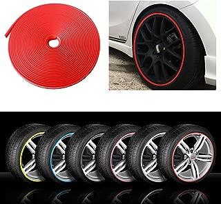 Kabis Car Rimblades Red Color Alloy Wheel Rim Protector Tyres Tire Guard Rubber Moulding