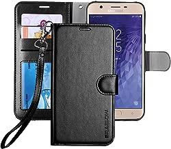 ERAGLOW Galaxy J7 2018 Case/J7 V 2nd case/J7 Refine/J7 Star/J7 Aero/J7 Crown/J7 Top/J7 Aura/J7 Eon Case, Luxury PU Leather Wallet Flip Protective Case Cover for Samsung Galaxy J737 (Black)