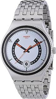 Irony Big Classic Beaulieu - Reloj de Cuarzo para Hombre, con Correa de plástico, Color Plateado