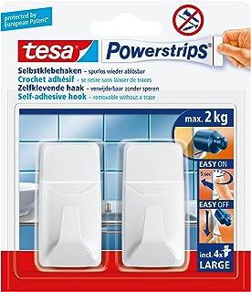 tesa Powerstrips haken L rechthoekig, wit