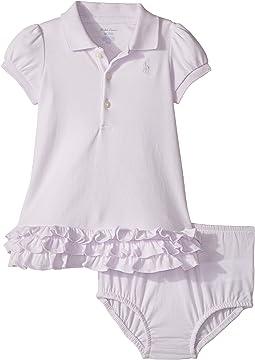 Ralph Lauren Baby - Ruffled Cotton Polo Dress (Infant)