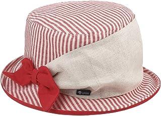 Lipodo Cappello in Tessuto Limeva Stripes Donna - Made Italy Cotone Lino Estivo Primavera/Estate