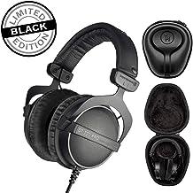 Beyerdynamic DT 770 PRO 16Ohm Over-Ear Headphones (Ninja Black, Limited Edition) with Knox Gear Hard Shell Headphone Case Bundle (2 Items)