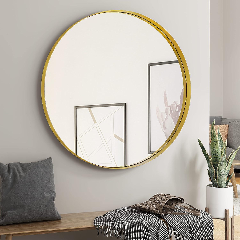 NXHOME Circle Metal-Frame Wall Decorative キャンペーンもお見逃しなく - セール価格 Mirror Bathroom
