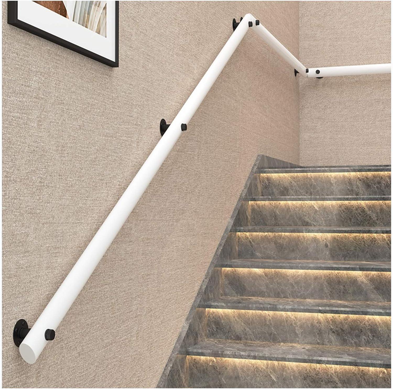 Les Villas Les Lofts Rampes MAZHONG Main Courante Escalier Blanche avec Support en Fer Forg/é De Couloir en Bois Massif Facile /à Installer pour Les Maisons De Retraite Size:30cm