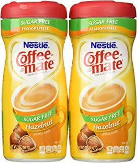 Coffeemate Sugar Free Hazelnut 10.2 OZ ,Pack of 2