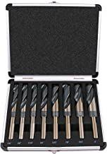 """Best Choice 8-Piece 1/2"""" Shank Silver and Deming Drill Bit Set in Aluminum Carry Case, High Speed Steel (HSS) 