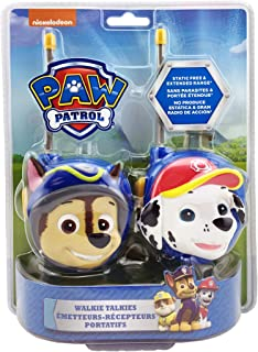NEW PAW Patrol Walkie Talkies - Set Of 2 Kids Walkie Talkies Chase And Marshall – Excellent Walkie Talkies For Toddlers