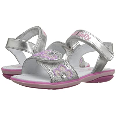 a37bfd1e01f79 Lelli Kelly Kids Fiore Sandal (Toddler/Little Kid) (Silver Glitter) Girls