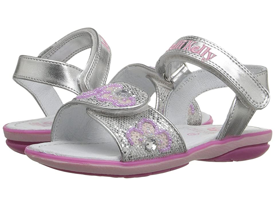 Lelli Kelly Kids Fiore Sandal (Toddler/Little Kid) (Silver Glitter) Girls Shoes