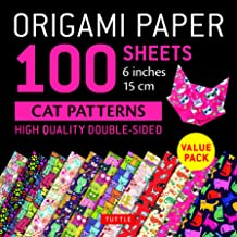 Origami Paper 100 sheets Cat Patterns: 6 inches (15 cm)