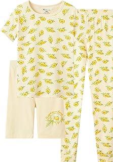 Sponsored Ad - Topgal Little & Big Girls Cotton Knit Pajama 3-Piece Shorts Pants Summer PJ Set Size 4-14
