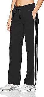 adidas Womens Adidas Women's Athletics Essential Cotton Fleece 3 Stripe Open Hem Pant F1754WFL501-P