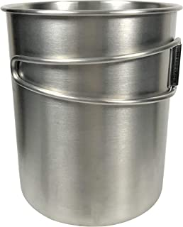 Camping Hiking Outdoor Cup – Stainless Steel with Folding Handles and Inside Measurement Marks, 25 oz
