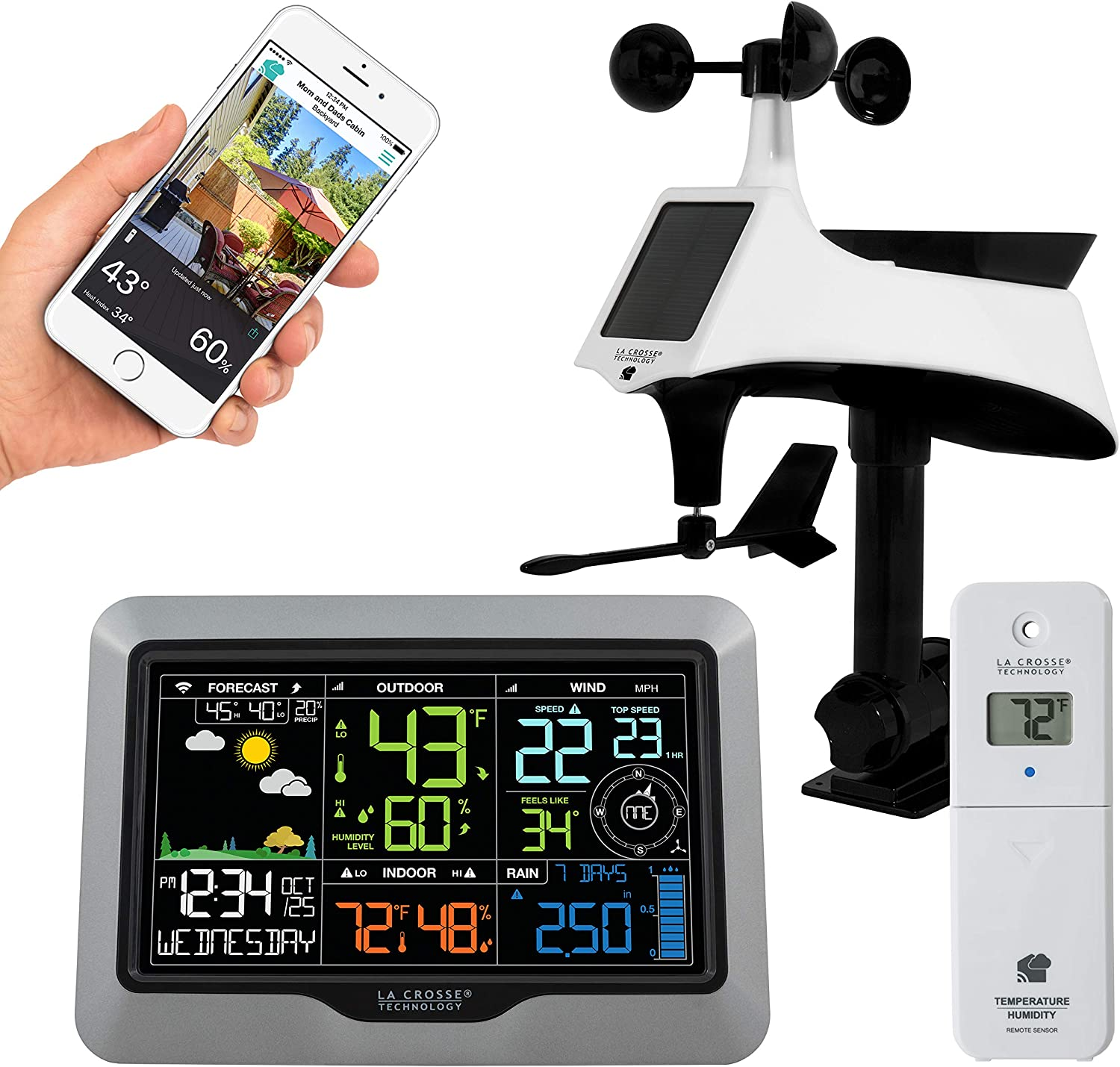 La Crosse Technology V40A-PRO-INT Max 60% OFF Wi-Fi Cen Professional Manufacturer direct delivery Weather