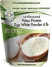 Judee's Egg White Protein Powder (4 lbs) Keto, Non GMO, Dairy Free, Soy Free. 20g Protein Per Serving. Smoothies, Baking, ...