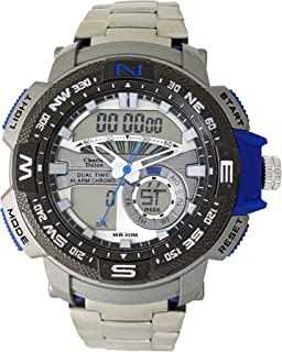 Charles Delon Mens Quartz Watch, Analog-Digital Display and Stainless Steel Strap 5778 GUSL