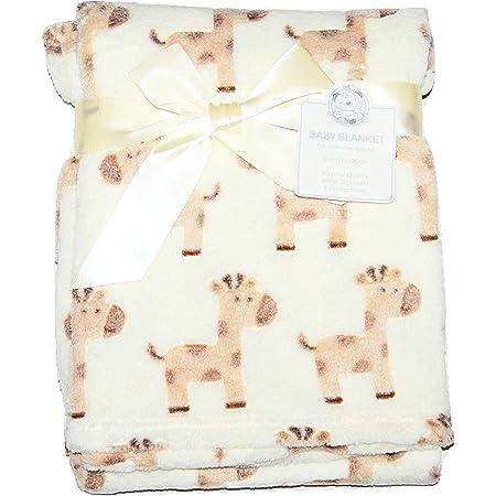 Baby Boy Girl Unisiex Soft Fleece Wrap Blanket Pram Cot Crib Moses Basket Giraffe