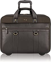 Solo New York Macdougal Rolling Laptop Bag. Rolling Briefcase for Women and Men. Fits up to 17.3 inch laptop - Espresso