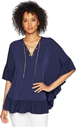 Chain Lace Caftan Top