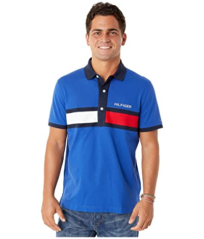Tommy Hilfiger Adaptive Polo Shirt with Magnetic Buttons Custom Fit (Mazzarine Blue) Men
