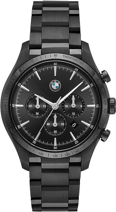 Orologio bmw cronografo quarzo uomo con cinturino in acciaio inossidabile bmw8003