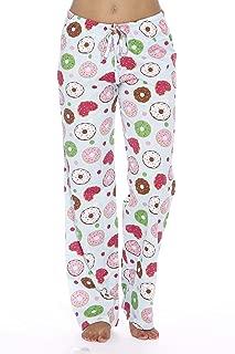 100% Cotton Jersey Knit Fun Print Women Pajama Pants Sleepwear