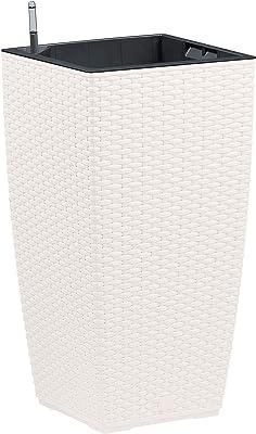40 x 40 x 53 cm pl/ástico Dehner 3962859 ca Maceta mortadela Antracita