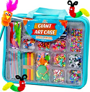 Giant Art Case Set of 1600+ Pc.– Arts and Crafts Supplies for Kids 6+ – DIY Projects Case Filled with Pom Pom Box Craft Ki...