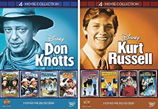 Kurt Russell and Don Knots 8-Movie Collection (Strongest Man in World / Computer Wore Tennis Shoes / Horse in the Grey Flanel / The Apple Dumpling Gang / Gus / Hot Lead & Cold Feet) DVD Bundle