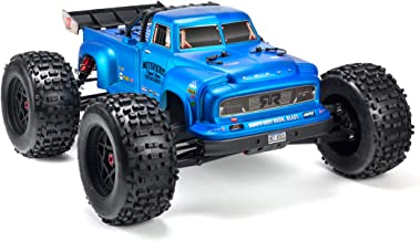 ARRMA Notorious 1/8 Scale BLX Brushless 4WD RC Stunt Truck RTR (6S LiPo Battery Required) with 2.4Ghz STX2 Radio, ARA106044T2 (Blue)