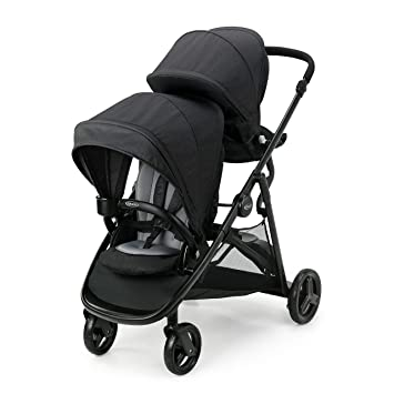 Graco Ready2Grow LX 2.0 Double Stroller Features Bench Seat and Standing Platform Options, Gotham: image