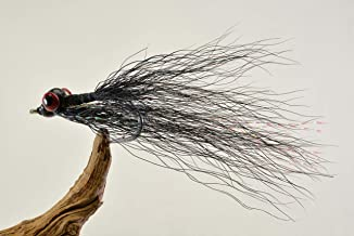 Clouser Minnow Fishing Flies - Black - Mustad Signature Duratin Fly Hooks - 6 Pack