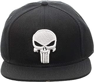 Punisher Logo Snap Back Hat Standard Black