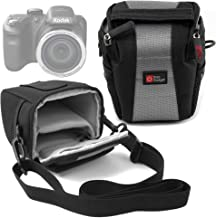 DURAGADGET Water-Resistant Black Grey Cross-Body Carry Bag  Body ONLY  Compatible with Kodak PixPro AZ401  Dimensions  115 100 90mm