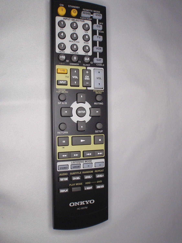 ONKYO OEM RC-607M Max 40% OFF A Minneapolis Mall V Remote Control 24140607 PN: Receiver