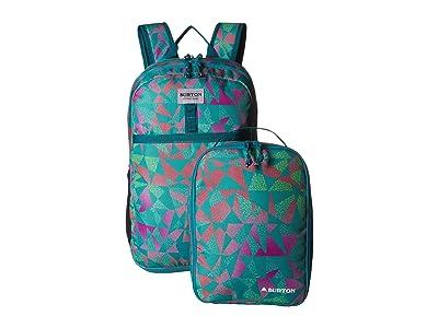 Burton Kids Lunch-n-Pack Backpack (Youth) (Green/Blue Slate Morse Geo Print) Backpack Bags