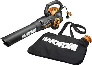 WORX WG512 Trivac 2.0 Electric 12-amp 3-in-1 Vacuum Blower/Mulcher/Vac, Black and Orange (Renewed)