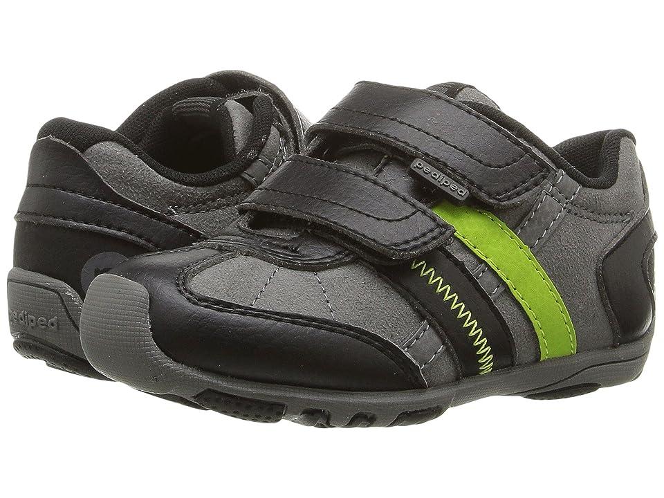 pediped Gehrig Flex (Toddler/Little Kid) (Black Lime) Boys Shoes