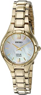 Women's SUP294 Solar Analog Display Japanese Quartz Gold Watch