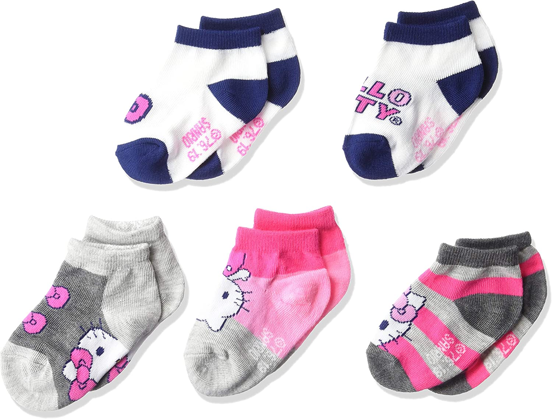Hello Kitty baby-girls Hello Kitty 5 Pack Shorty Socks