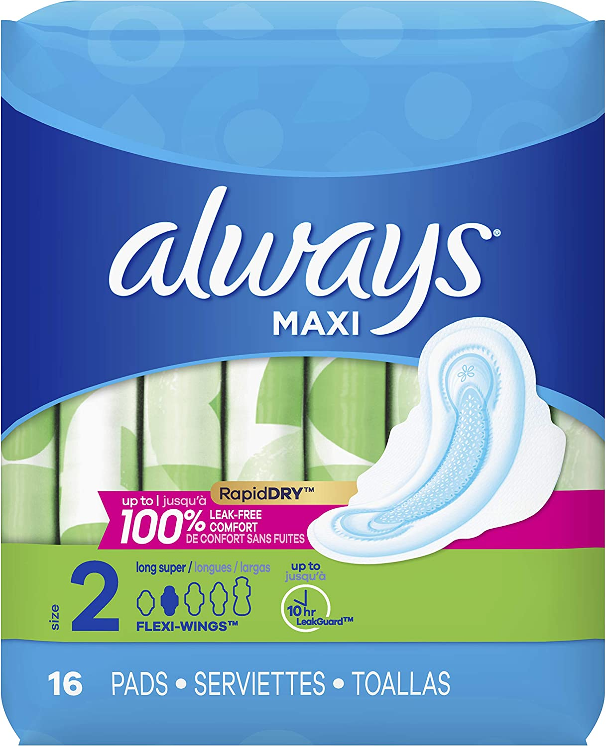 Always Maxi Padssuper New product!! W Max 52% OFF Flexi-Wings Unscented 16 Count