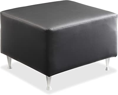 "Lorell Fuze Sitting Bench, 18"" x 27.5"" x 28"", Black"