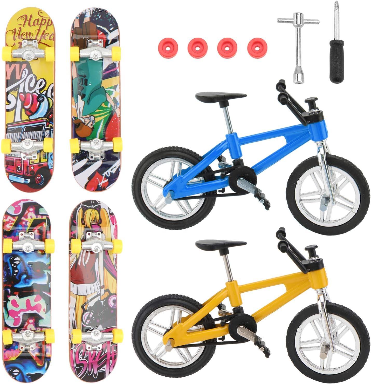 NUOBESTY Mini Finger Toys Bikes Charlotte Mall Skateboards Set Sl Sales