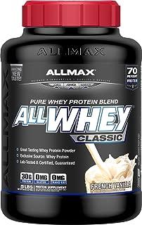 ALLMAX ALLWHEY Classic 100% Pure Whey Protein, Vanilla, 20 Pound (5 Pound, 4 Pack)
