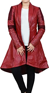 Womens Red Coat Scarlet Cosplay Costume Trench Coat