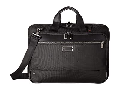 Briggs & Riley @Work Large Expandable Brief (Black) Briefcase Bags